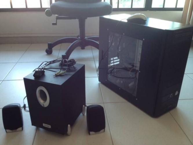 $150 - Desktop inclusive of computer speakers with