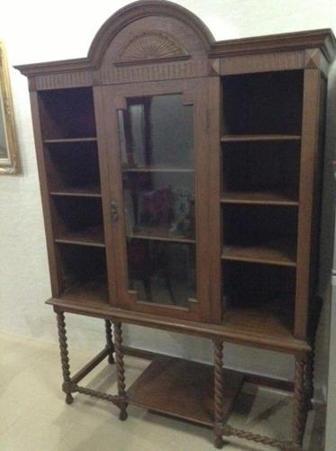 1920 Glass Display Victorian showcase for Sale