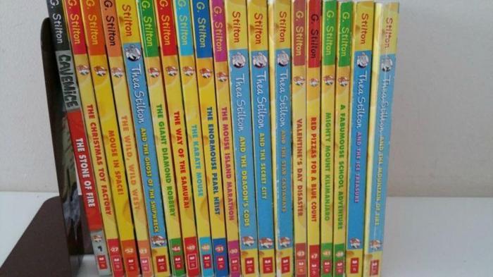 19 Assorted Geronimo Stilton and Thea Stilton Books for