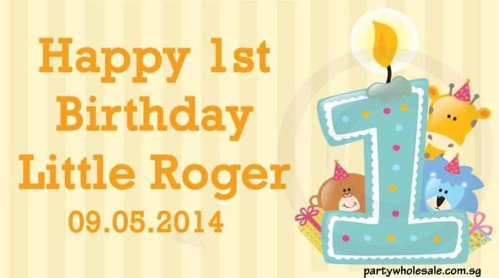 1st Birthday Personalized Banner by Party Wholesale