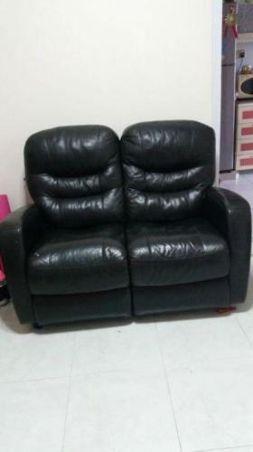 2- seater leather sofa