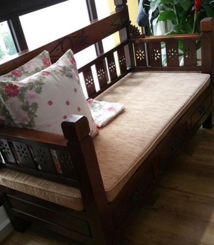 2+1+1 Teakwood Sofa Set for sale $600