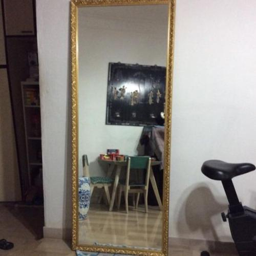 2 Pieces Of Full body length mirror with beautiful gold