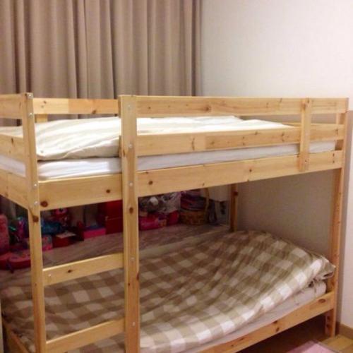 2 sets Ikea Mydal bunker beds