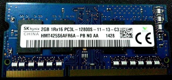 2GB DDR3L 12800S/1600MHz 1.35V Memory RAM
