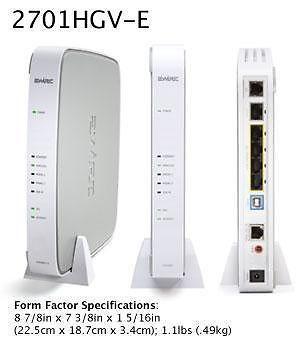 2WIRE Singtel Mio Wireless Modem Router 2701HGV-E (New) $20