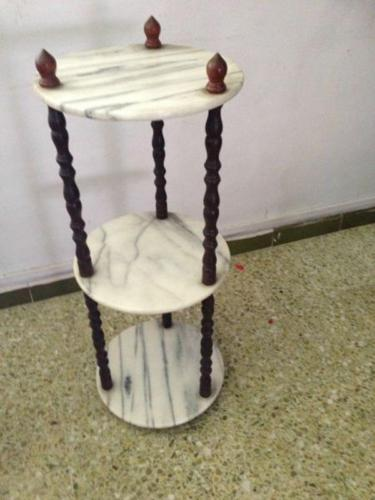 3-tier Marble Side Table
