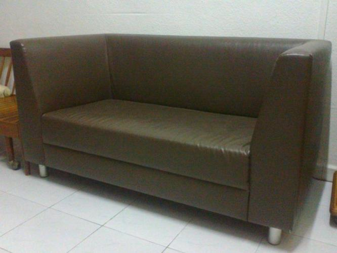 $399 - Stylish Sleek Dark Brown Designer Sofa