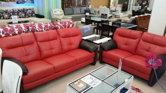 3+2 seater cow leather sofa for sale! Like new!