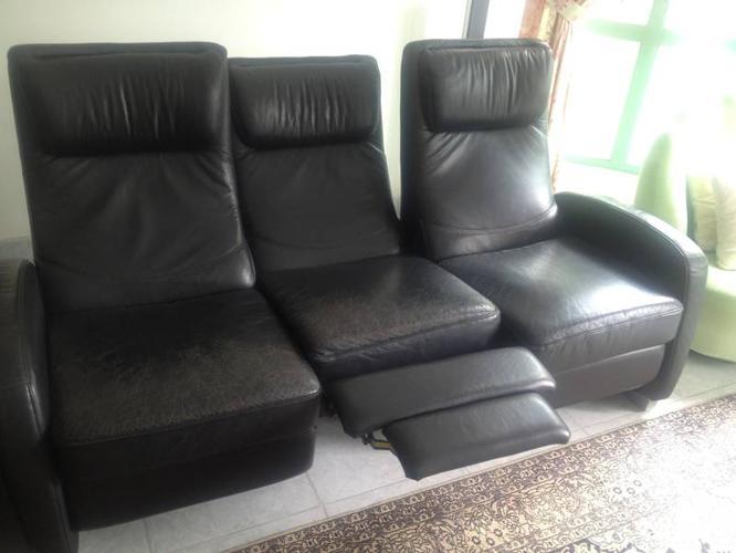 Cellini Sofa 3 black cellini sofa plus 1 side sofa chair for sale in hillview