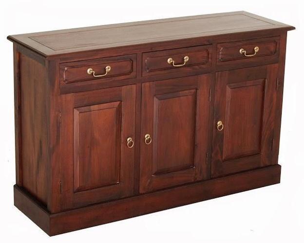 3 Solid Door 3 Drawer Buffet Sideboard Cabinet