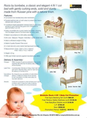 4-in-1 Baby Cot Bon bebe Rocio