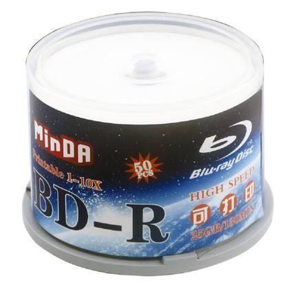 50pcs PRINTABLE 4X Bluray BD-R 25GB