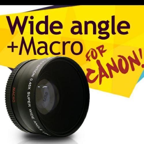 58mm wide angle macro lens