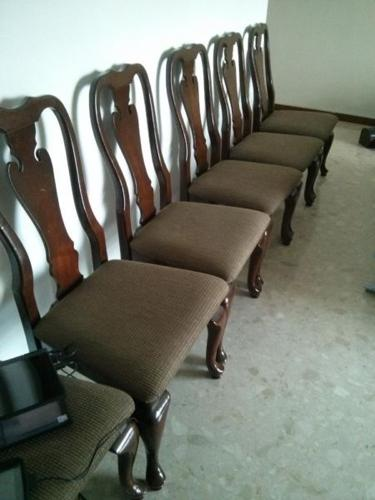 5 antique design wooden chairs for sale!
