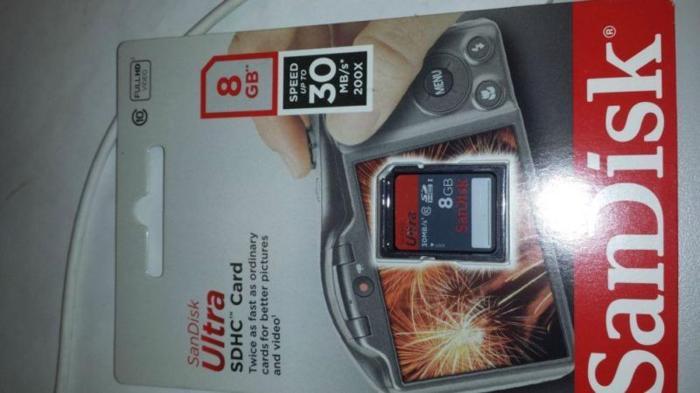 8 GB SD card high speed