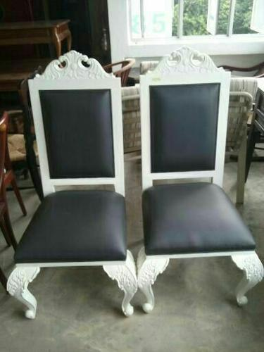 A1 - French Chair Black Leather (2 pcs Avail)