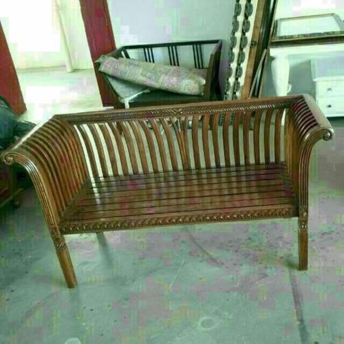 A243 - Restored Vintage Teakwood 2 Seater Sofa