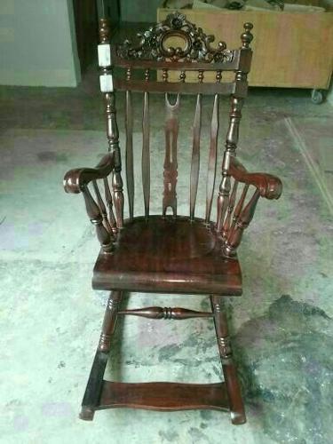 A260 - Vintage Teakwood Rocking Chair For Kids