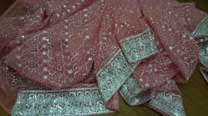 Almost new pink saree (used once for dinner and dance)