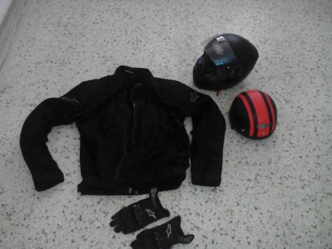alpinestar jacket $90 , shoei hemlet $150 clean