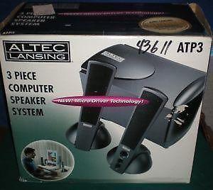 Altec Lansing ATP3 3pc MultiMedia Computer Subwoofer