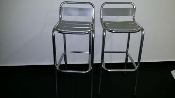 Aluminium bar top high chair overall Dim H98cm x W38 x