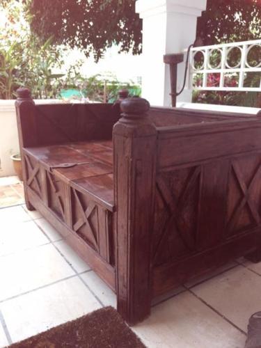Antique Arabian Seat with Storage