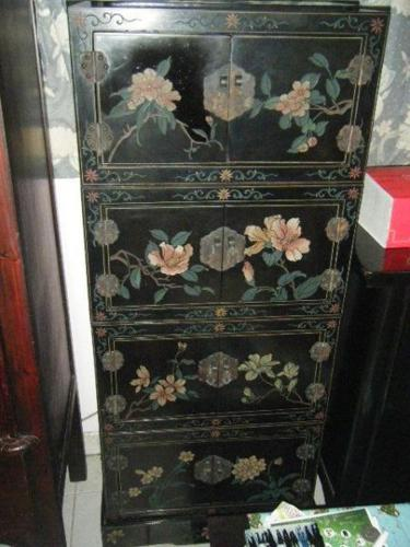 Antique Chinese Medicine Cabinet Hand Carve And