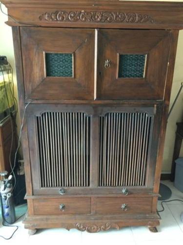 Antique TV and Audio Cabinet