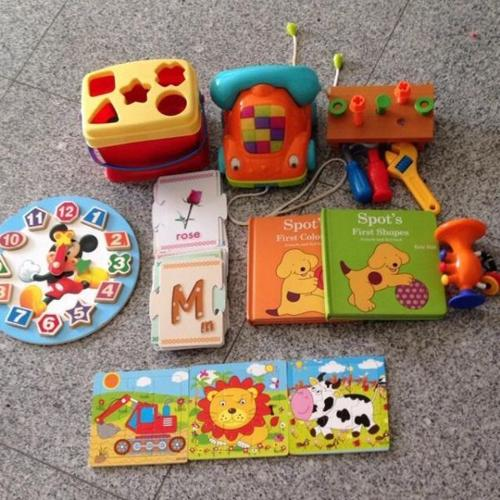 Assorted toys Fisher price ELC Phone Puzzles Books