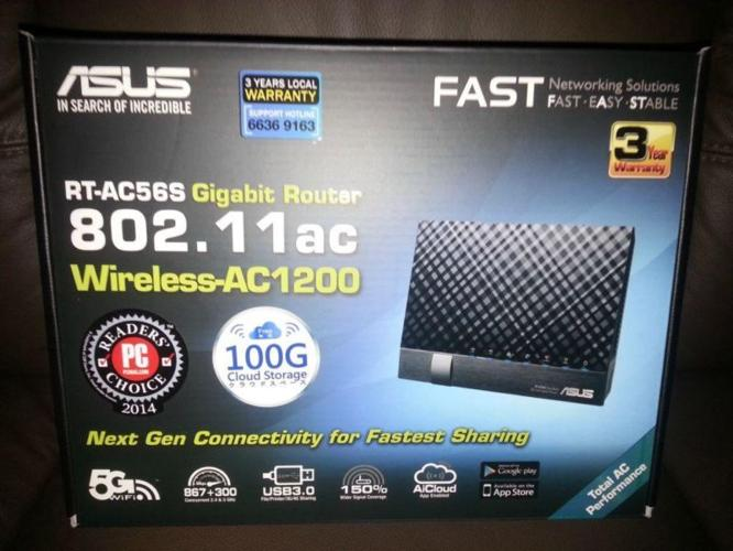 ASUS GIGABIT ROUTER WIRELESS RT-AC56S