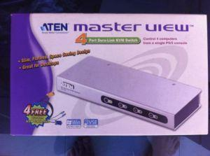 Aten 4 port Master View KVM switch for PS2 interfaces