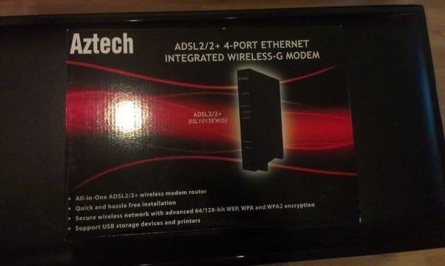Aztech ADSL2/2+ 4-Port Integrated Wireless-G Modem