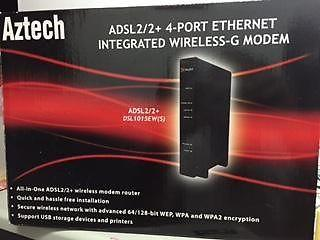 AZTECH ADSL 2/2 + 4-Port Ethernet Integrated Wireless-G