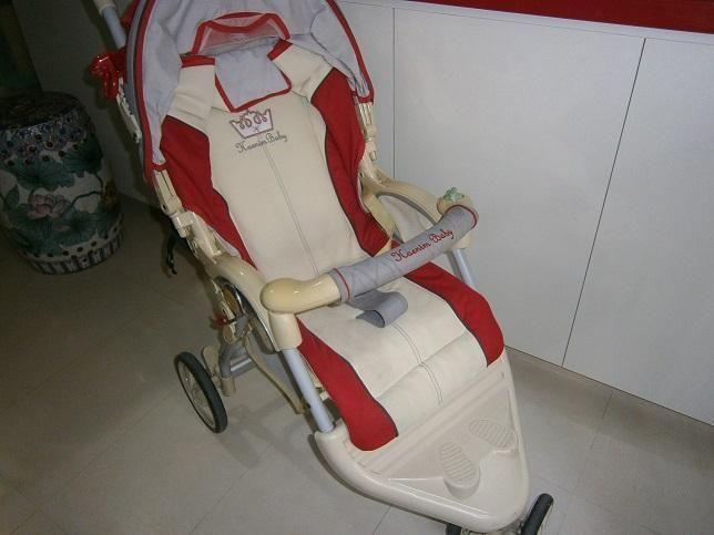 Baby stroller + storller fan + Playskool baby walker =