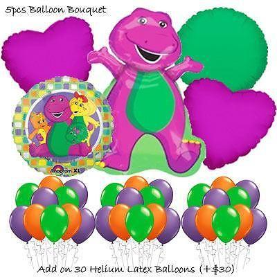 Barney Balloon Bouquet by Party Wholesale Centre
