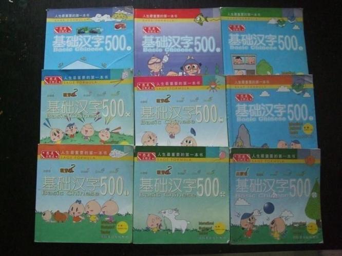 Basic Chinese 500 (基础汉字500) x 9books