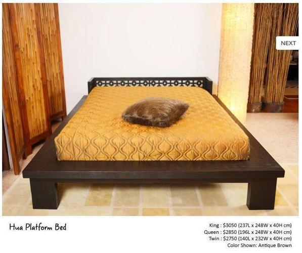 Beautiful John Erdos Hua Platform Bed + Foam Mattress