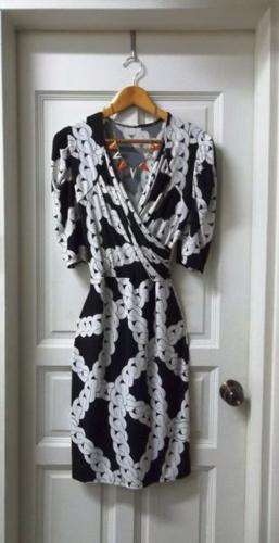 Beautiful Wrap Dress with Popular Chain Link Design