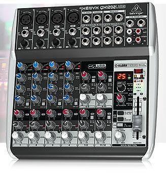 BEHRINGER XENYX QX1202USB 12-Input 2-Bus Mixer, USB and