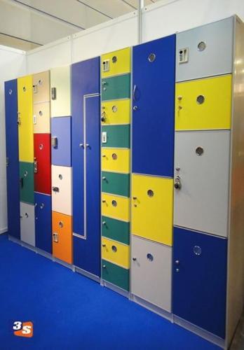 Bespoke lockers made of PVC plastic