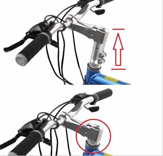 Bicycle Handlebar Stem Rise Extender (Silver or Black)