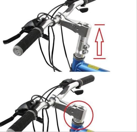 Bicycle Handlebar Stem Riser Extender (Black or Silver)