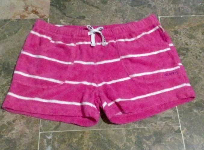 Billabong Girls Terry Cloth Shorts in Pink