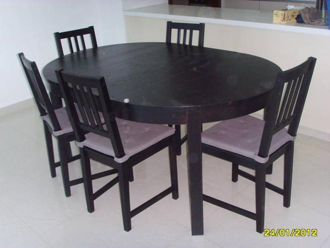 Bjursta Dining Table Size Adjustable With 5 Chairs For