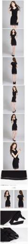 Black Chiffon Dressw (XL)