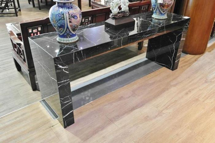 Black Marble Large Display Table Console