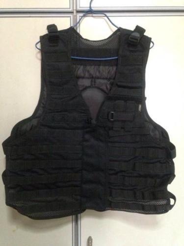Black military vest