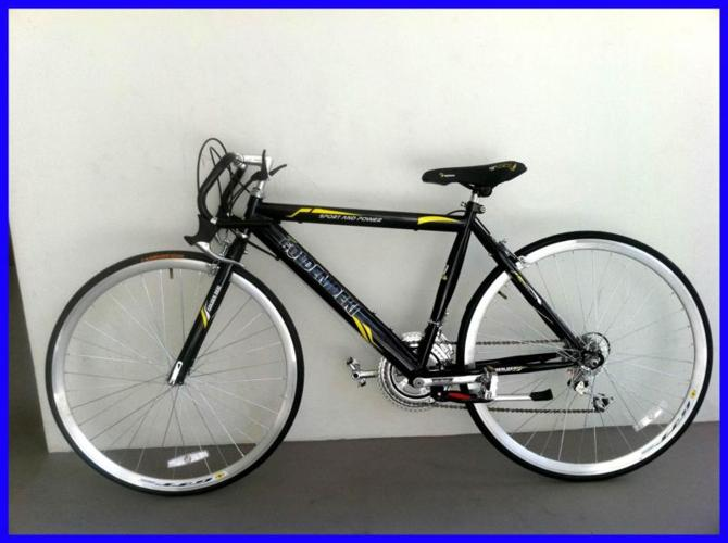 Black Road Bike, Unisex, Rider Height 160-175 cm (Free